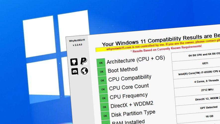 Windows 11 - sprawdź, czy zadziała z aplikacją WhyNotWin11