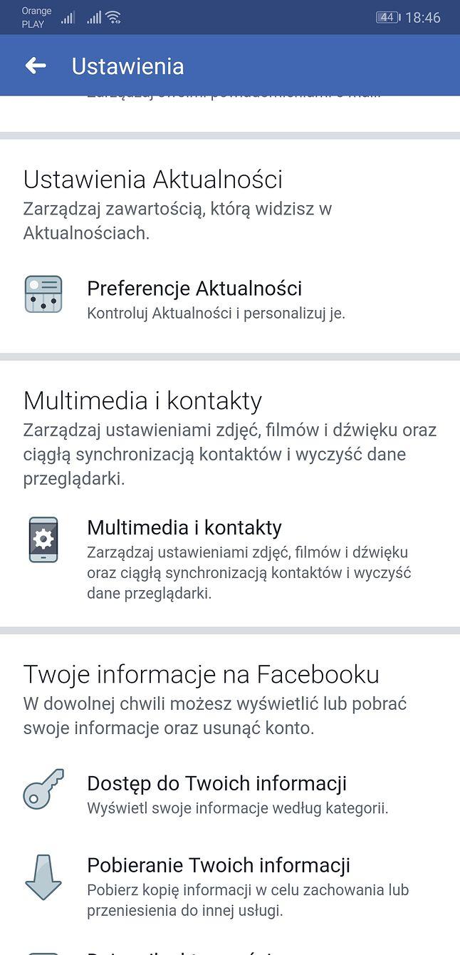 Ustawienia otwierania linków znajdziemy w kategorii... Multimedia i kontakty.