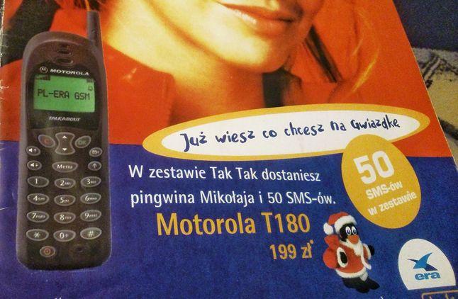 Telefon za dwieście złotówek i pakiet 50 SMS-ów. Tak kusili nas operatorzy w grudniu 2001