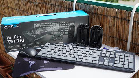 Natec Tetra — zestaw akcesoriów komputerowych 4 w 1, do domu i biura
