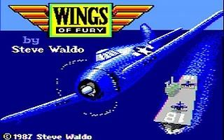 Wings of Fury — czołówka Apple II