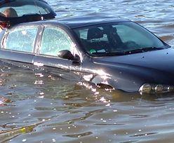 Zapomniała o hamulcu. Auto zjechało prosto do wody