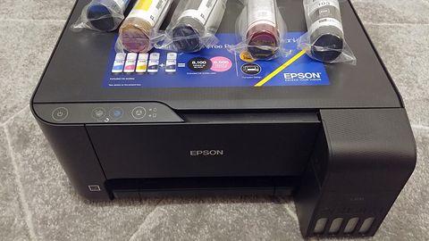 Drukarka Epson EcoTank – napełniamy tusze, analiza w szczegółach (Epson EcoTank L3110)