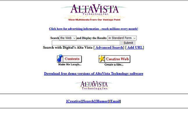 Brak Żółtych Stron doprowadził do powstania wyszukiwarek internetowych