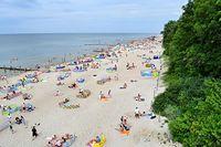 rewal, plaża, plaza, wakacje, wczasy, urlop, parawany