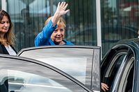 New Bauhaus Museum In Dessau Opens To The PublicDESSAU, GERMANY - SEPTEMBER 08: German Chancellor Angela Merkel leaves the opening of the new Bauhaus Museum Dessau on September 8, 2019 in Dessau, Germany. The new museum's opening coincides with the 100th anniversary of the founding of the Bauhaus movement. The Bauhaus school, initiated by Walter Gropius in Weimar in 1919, has had a profound and far-reaching influence on architecture, art and design across the globe that is still very evident today. (Photo by Jens Schlueter/Getty Images)Jens Schlueter