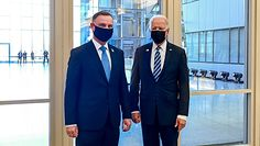 Krzysztof Gawkowski kpi z Andrzeja Dudy. Powodem zdjęcie z Joe Bidenem