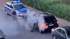 Szokujące nagranie z Warszawy. Mężczyzna zaatakował policjantów gaśnicą