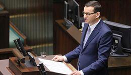 """Premier Mateusz Morawiecki wygłosił exposé. """"Nasz cel to polskie państwo dobrobytu"""""""