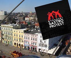 """Bydgoski """"gastro protest"""". Branża apeluje o większe wsparcie"""