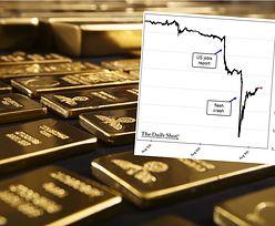 Krach na złocie. W chwilę cena uncji spadła o prawie 100 dolarów