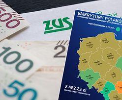 Emerytalna mapa Polski. Śląsk dostaje najwięcej, wschód kraju wciąż cierpi za niskie pensje