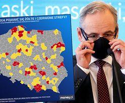 """Polska żółta i czerwona. """"Mały lockdown"""" dla 10 mln Polaków już w tym tygodniu"""
