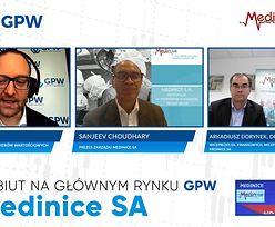 Medinice debiutuje na głównym rynku GPW. Przecena przekroczyła już 10 procent