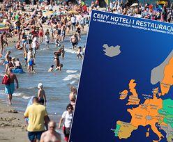Europejska mapa cen hoteli i restauracji. Sześć krajów tańszych od Polski