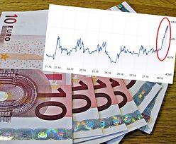 Kursy walut. Euro wystrzeliło w górę i jest najdroższe od ponad dekady