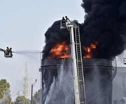 Pożar w zakładzie naftowym. Spłonęło 250 tys. litrów benzyny