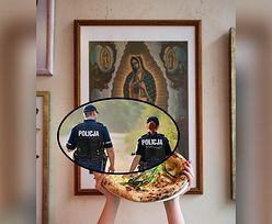 Wrocław. Policja interweniowała w pizzerii. Zarekwirowała obraz z wizerunkiem Maryi