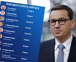 10 najbogatszych polityków w Polsce. Morawiecki byłby wyżej, gdyby nie podział majątku z żoną
