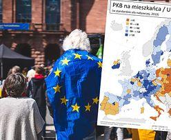 Polska na mapie unijnego bogactwa. Część kraju została w tyle, Warszawa wyróżnia się kolorem