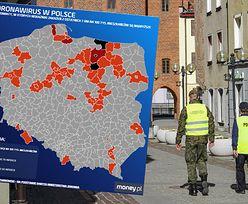 Koronawirus. Regionalizacja obostrzeń. Warmińsko-mazurskie czarnym punktem na mapie