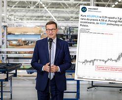 Kursy walut błyskawicznie reagują na słowa premiera. Euro w chwilę staniało o 3 grosze