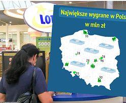 Największe wygrane w Polsce. Sprawdzamy, gdzie padły