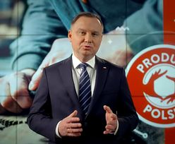 Wybory 2020. Andrzej Duda w spocie wystąpił na tle nielegalnego logo