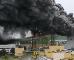 Pożar w kopalni w Bełchatowie. Płonął taśmociąg na wysokości 30 metrów