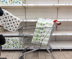 W tym kraju lockdown wywołał panikę. Z półek sklepowych znika papier toaletowy i chleb