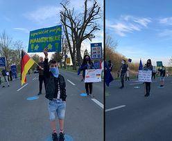 """Protest mieszkańców pogranicza. """"Wpuśćcie nas do domów"""""""