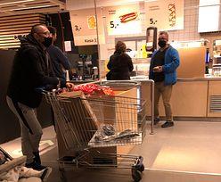 Nowe obostrzenia tuż-tuż. W Leroy gęsto przy kasie, w Ikei najdłuższa kolejka jest po... hot dogi