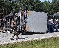 Karambol pod Garwolinem. Droga w kierunku Lublina jest zablokowana
