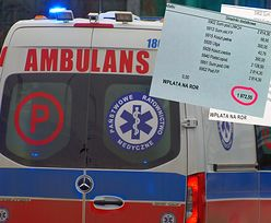 Protest ratowników medycznych. Bohaterowie ratujący życie pokazali paski z zarobkami
