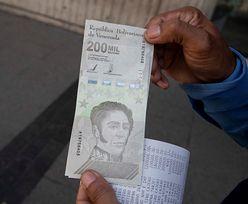 Wenezuela wprowadziła banknot o wartości 200 tys. boliwarów. Jest wart 10 centów amerykańskich