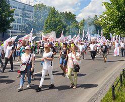 Protest górników w Warszawie. Chcą mieć głos w sprawie restrukturyzacji górnictwa