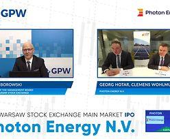 Photon Energy debiutuje na giełdzie. To kolejna zagraniczna spółka na GPW