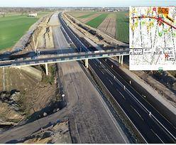 Wyburzanie wiaduktów na autostradzie A1. Utrudnienia dla kierowców