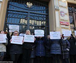 Protest pracowników sądów. Znów wyszli na ulice