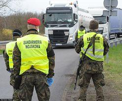 Koronawirus uwięził kierowców ciężarówek. MSWiA zwolniło ich z obowiązku kontroli granicznej