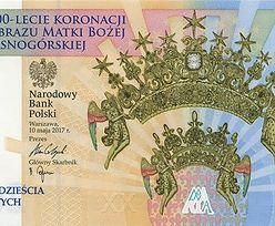 300-lecie koronacji Obrazu Matki Bożej Jasnogórskiej na banknocie kolekcjonerskim NBP