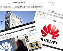 """Świat zareagował na zatrzymanie dyrektora Huawei w Polsce. """"Ryzyko eskalacji napięcia między Chinami a Zachodem"""""""