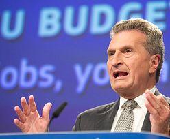 Oettinger: Polska lokomotywą, ale ma kłopot z praworządnością