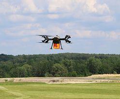Dron dostarczy przesyłkę medyczną w Warszawie. Pierwszy taki przypadek