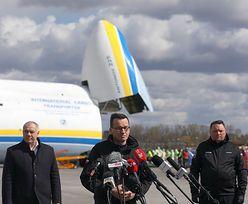 """Antonow An-225 Mrija w Warszawie. Morawiecki: """"Będziemy ściągać jak najwięcej sprzętu"""""""