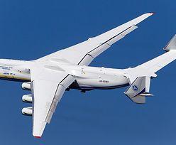 Antonow An-225 na Okęciu. Największy samolot świata przywiezie sprzęt medyczny