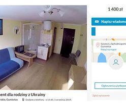 """""""Apartament"""" dla ukraińskiej rodziny - 1750 zł za 24 metry. """"Wierzchołek góry lodowej, ludzie śpią i na styropianach"""""""