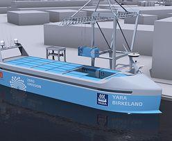Norwegowie budują bezzałogowy kontenerowiec z napędem elektrycznym