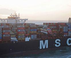 Statek zgubił kontenery z cennym ładunkiem. Miał trafić do firm w Polsce