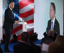 Andrzej Duda chce podwojenia wymiany handlowej z USA. Otworzył Polsko-Amerykański Szczyt Gospodarczy